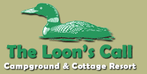 The Loon's Call Campground and Cottage Resort logo